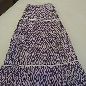 Purple and White Peasant Skirt